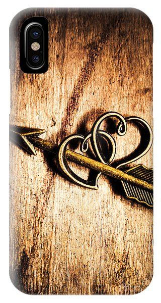 Cupid iPhone Case - Cupid Arrow And Hearts by Jorgo Photography - Wall Art Gallery