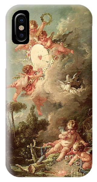 Cupid iPhone Case - Cupids Target by Francois Boucher