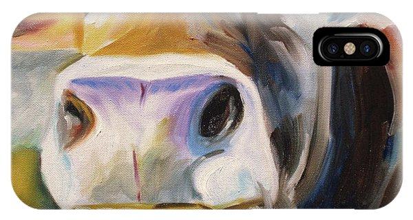 Barnyard Animals iPhone Case - Curious Cow by Donna Tuten