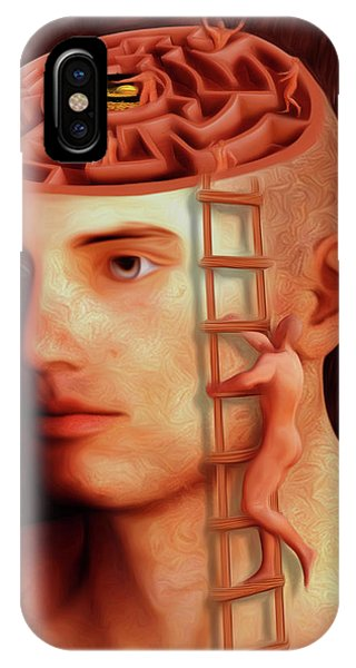 Brain Freeze iPhone Case - Curious Mind by Surreal Photomanipulation