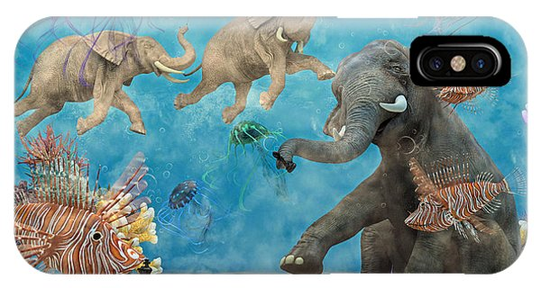 Sitting iPhone Case - Curious Ocean by Betsy Knapp