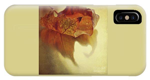 Curled Autumn Leaf IPhone Case