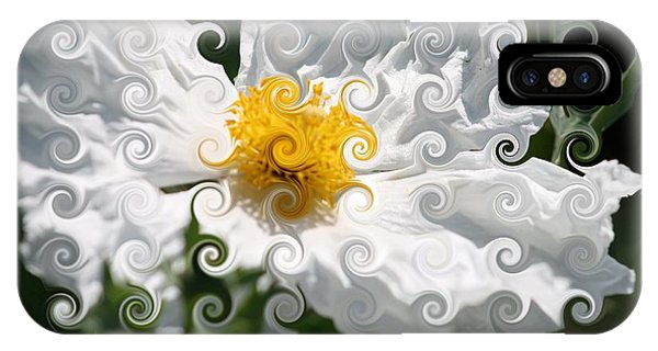 Curlicue Fantasy Bloom IPhone Case