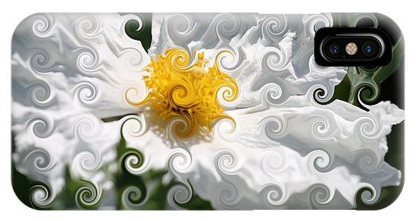 Curlicue Fantasy Bloom IPhone Case