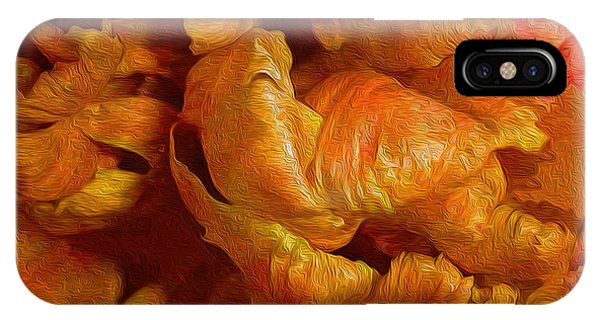 Curling Tulip Abstract 21  IPhone Case