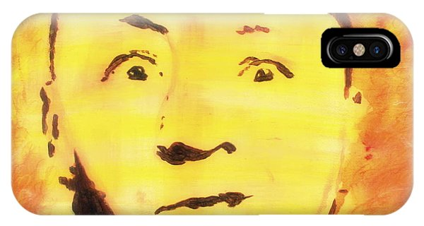 IPhone Case featuring the painting Curly Howard Three Stooges Pop Art by Bob Baker