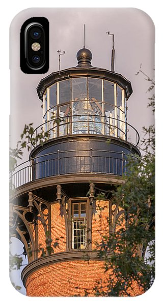 Currituck Beach Lighthouse Close-up IPhone Case
