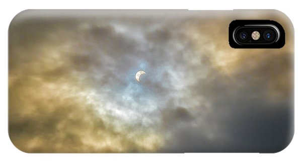 Curtain Of Clouds Eclipse IPhone Case