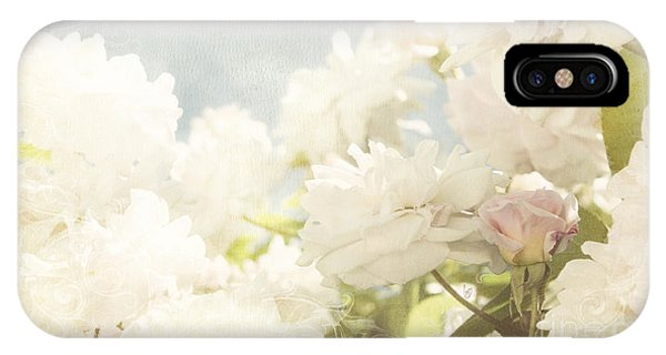Curtains And Fountains Of Roses IPhone Case