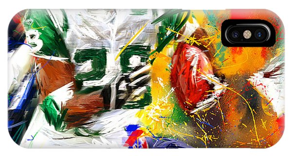 Running Back iPhone Case - Curtis Martin New York Jets by Lourry Legarde