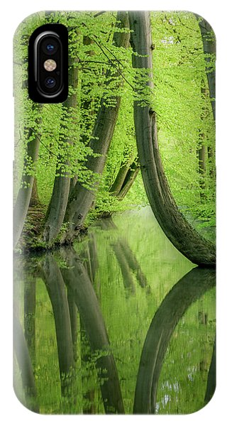 Curved Trees IPhone Case