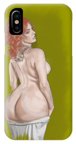 IPhone Case featuring the mixed media Curves Of Helga by TortureLord Art