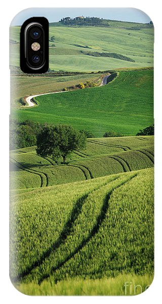IPhone Case featuring the photograph Curvy Lines In Tuscany by IPics Photography
