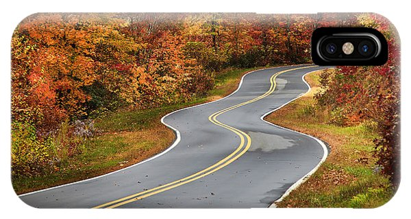 Curvy Road In The Mountains IPhone Case