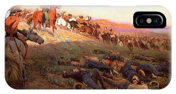 Cavalry iPhone Case - Custer's Last Stand by Richard Lorenz