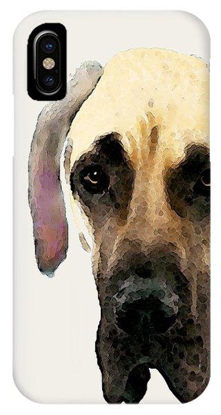 Soulful iPhone Case - Custom Great Dane Art by Sharon Cummings