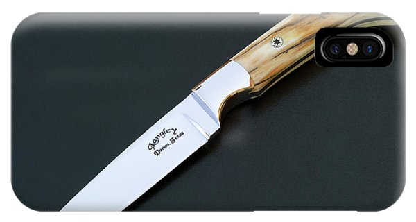 Custom Made iPhone Case - Custom Made Knife Mammoth Ivory by Gary Langley