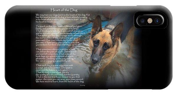 Custom Paw Print Maxx Heart Of The Dog IPhone Case