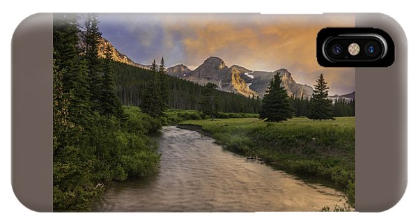 Cut Bank Creek At Sunset IPhone Case