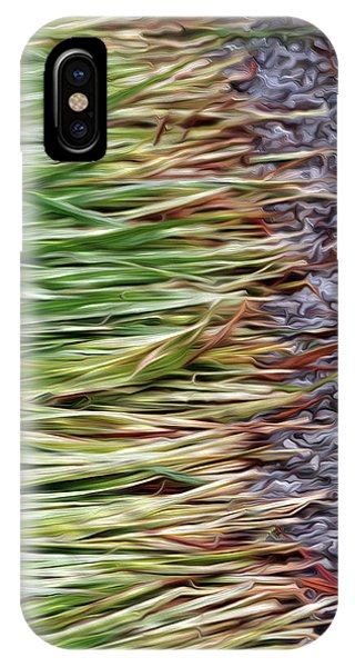 Cut Grass And Pebbles IPhone Case
