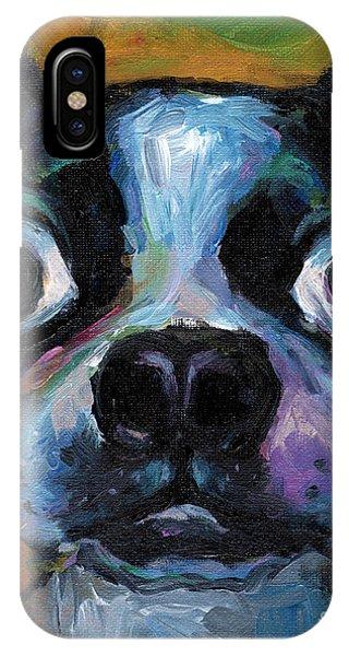 Cute Boston Terrier Puppy Art IPhone Case
