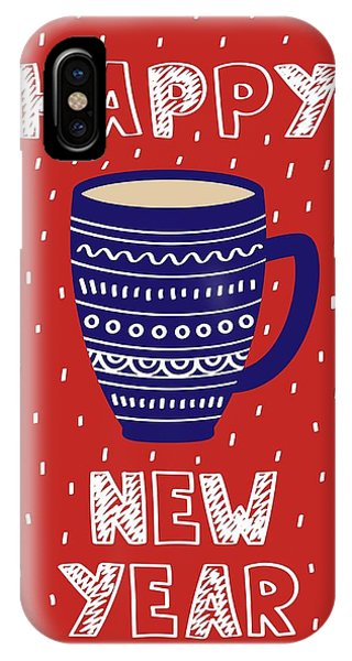 IPhone Case featuring the digital art Cute Christmas Card With A Picture Of A Mug Scandinavian Style by Christopher Meade