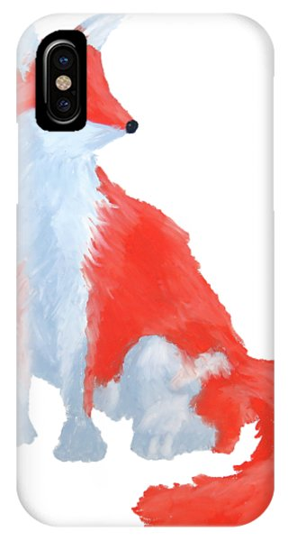 Cute Fox With Fluffy Tail IPhone Case