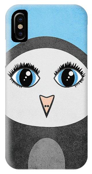 Cute Geometric Penguin IPhone Case