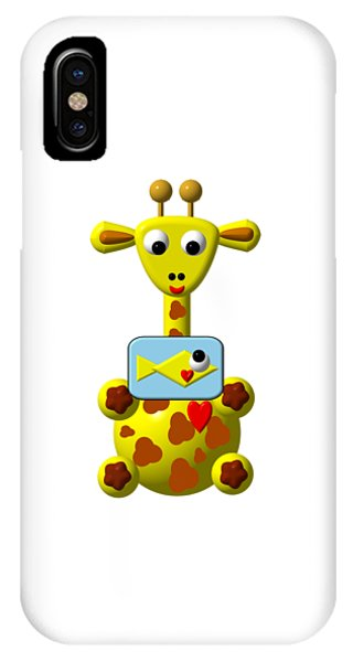 Cute Giraffe With Goldfish IPhone Case