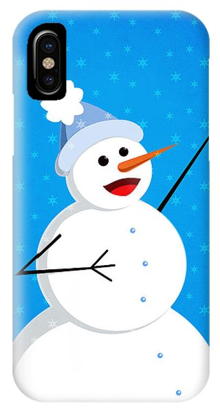 Cute Happy Snowman IPhone Case