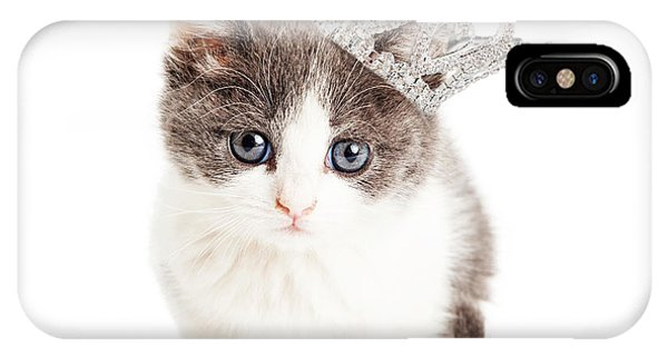 Cute Kitten Wearing Princess Crown IPhone Case
