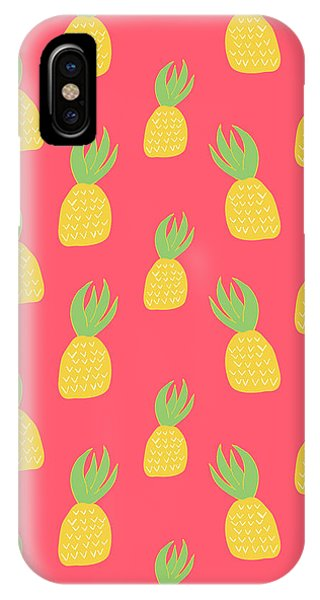 Tropical iPhone Case - Cute Pineapples by Allyson Johnson
