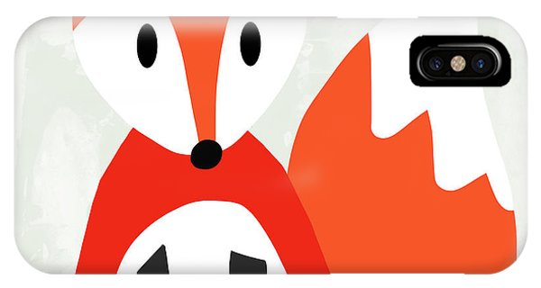 For iPhone Case - Cute Red And White Fox- Art By Linda Woods by Linda Woods