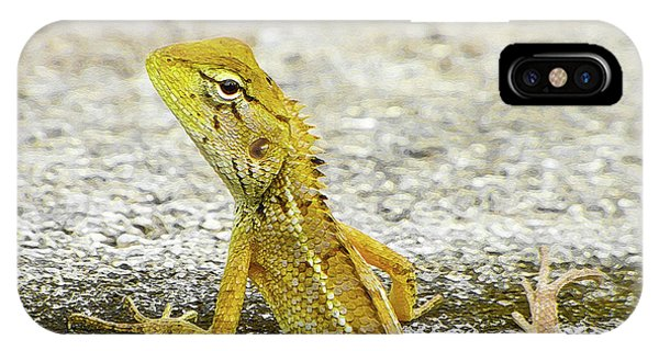 Cute Yellow Lizard IPhone Case