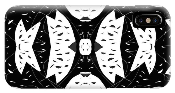 Cutout iPhone Case - Cutouts Abstract Art by Edward Fielding
