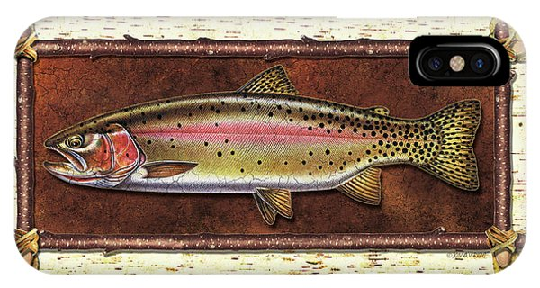 Trout iPhone Case - Cutthroat Trout Lodge by JQ Licensing