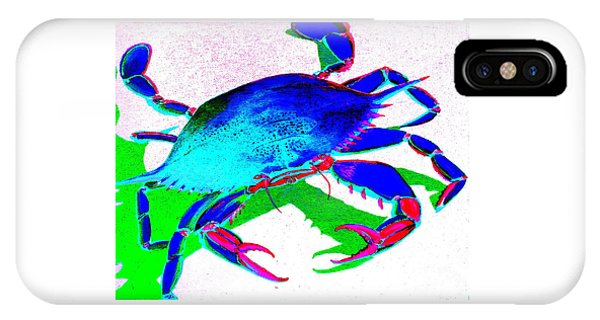 Cyan Crab IPhone Case