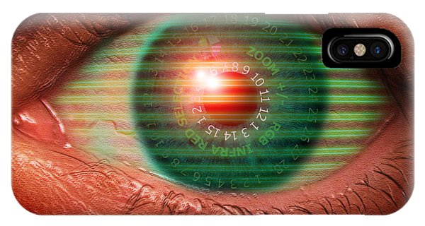 Cybernetic Eye Phone Case by Victor Habbick Visions
