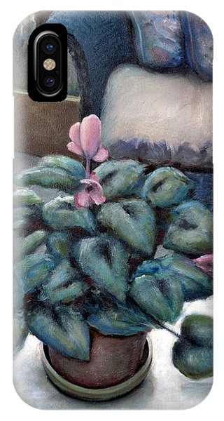 Cyclamen And Wicker IPhone Case