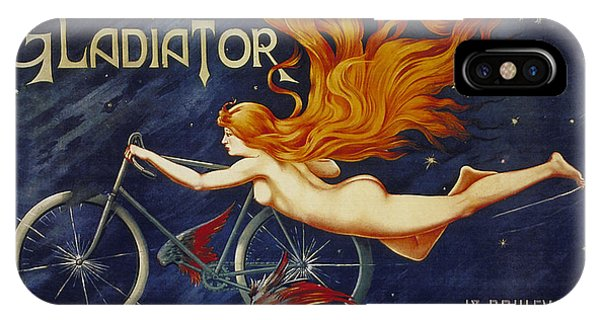 Cycles Gladiator  Vintage Cycling Poster IPhone Case