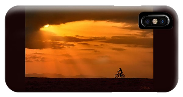 Cycling Into Sunrays IPhone Case
