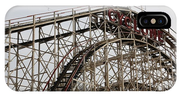 Cyclone Roller Coaster Coney Island Ny IPhone Case