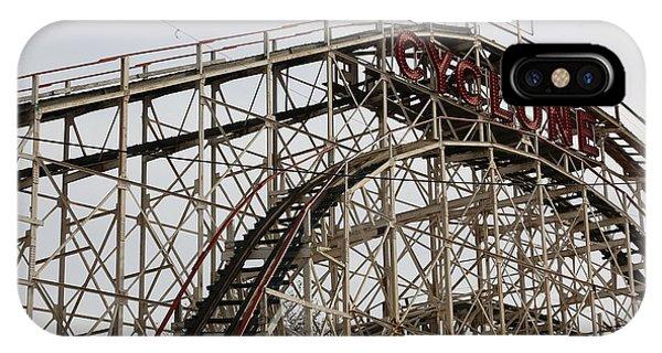 Cyclone Roller Coaster Coney Island Ny IPhone Case