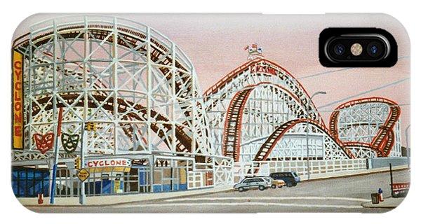 Cyclone Rollercoaster In Coney Island New York IPhone Case