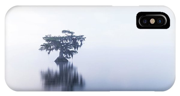 Cypress In Heavy Fog IPhone Case