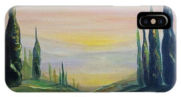 Cypress Dawn Landscape IPhone Case