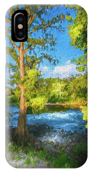 Bald Cypress iPhone Case - Cypress Tree By The River by Marvin Spates