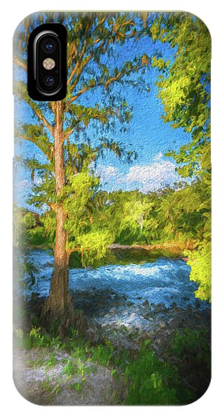 Cypress Tree By The River IPhone Case