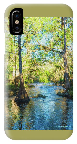 Cypress Trees On The River IPhone Case
