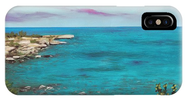IPhone Case featuring the painting Cyprus - Protaras by Anastasiya Malakhova
